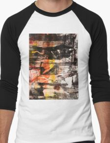 TIME IS THE FIRE IN WHICH WE BURN-PART 1—SCHWARTZ Men's Baseball ¾ T-Shirt