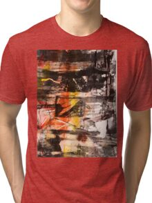TIME IS THE FIRE IN WHICH WE BURN-PART 1—SCHWARTZ Tri-blend T-Shirt