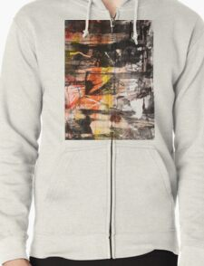 TIME IS THE FIRE IN WHICH WE BURN-PART 1—SCHWARTZ Zipped Hoodie