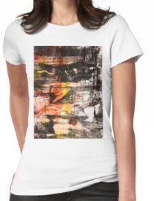 TIME IS THE FIRE IN WHICH WE BURN-PART 1—SCHWARTZ Womens Fitted T-Shirt