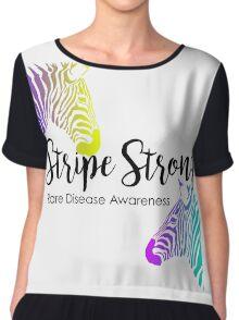 Stripe Strong - Rare Disease Chiffon Top