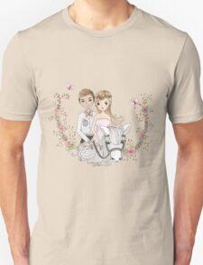 Beautiful Wedding Newlywed Bride Groom Horse T-Shirt