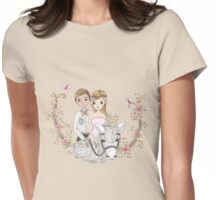 Beautiful Wedding Newlywed Bride Groom Horse Womens Fitted T-Shirt
