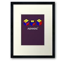 Winning Cubed Framed Print