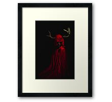 The Horned Woman Framed Print