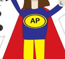 Administrative Professional Super Hero (Brunette) Sticker