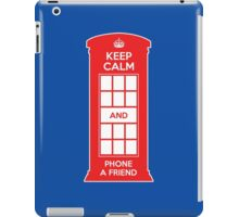 Keep calm and phone a friend. UK London iPad Case/Skin
