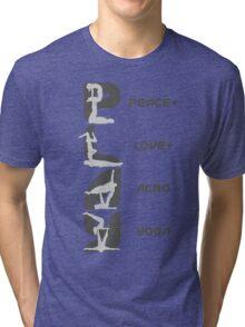 P+L+AY Poses Vertical - Charcoal Tri-blend T-Shirt