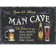 Man Cave Beer Sign Photographic Print