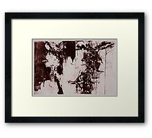WATER DRIBBLING WINE RED THREADS Framed Print