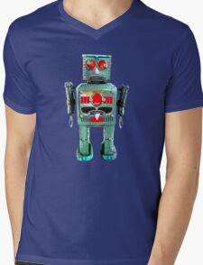 Vintage Robot T- shirt Mens V-Neck T-Shirt