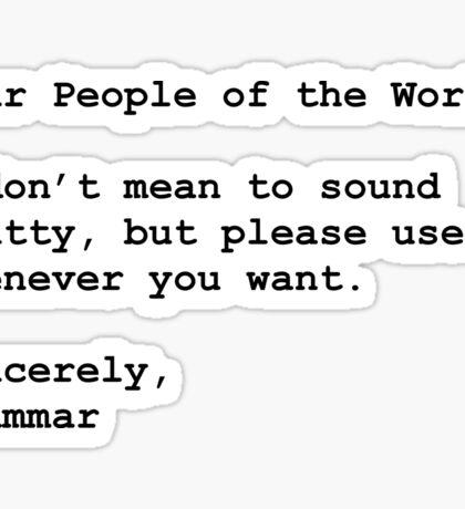 Use Grammar Sticker