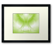 Green apple colors - abstract background Framed Print