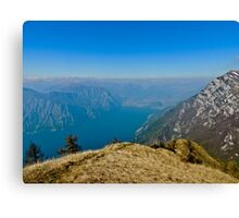 View of Lake Garda from Monte Baldo Canvas Print