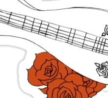 Appalachian/Mountain Dulcimer & Roses Sticker