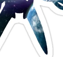 Earth and Space Cutout Sticker