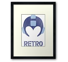 Retro - Blue Bomber Textured Framed Print