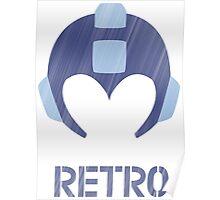 Retro - Blue Bomber Textured Poster