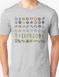 All The Gym Badges! T-Shirt