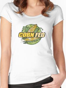 Corn Fed T Shirt, vintage, retro Women's Fitted Scoop T-Shirt