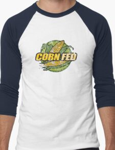 Corn Fed T Shirt, vintage, retro Men's Baseball ¾ T-Shirt