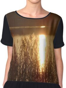 Golden Reflection Chiffon Top