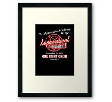 Supernatural The Musical Framed Print