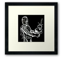 Zombie Black Knight Framed Print