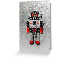 Vintage Robot 3 iPhone case Greeting Card