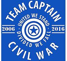 TEAM CAPTAIN - COMIC TO CIVIL WAR Photographic Print