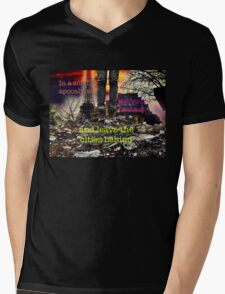 Zombie Apocalypse - leave the cities behind Mens V-Neck T-Shirt