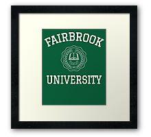 Fairbrook University Simple Framed Print