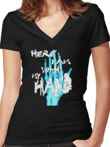 Holiday Song Women's Fitted V-Neck T-Shirt