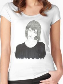 •Haku• Women's Fitted Scoop T-Shirt