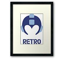 Retro - Blue Bomber Framed Print