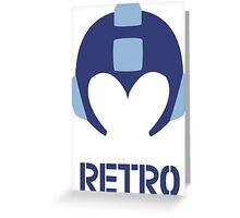 Retro - Blue Bomber Greeting Card