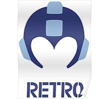 Retro - Blue Bomber Poster