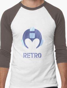 Retro - Blue Bomber Textured Men's Baseball ¾ T-Shirt