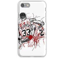 """Scottie Pippen and Michael Jordan """"Flu Game"""" iPhone Case/Skin"""