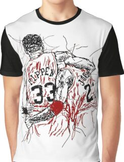 "Scottie Pippen and Michael Jordan ""Flu Game"" Graphic T-Shirt"
