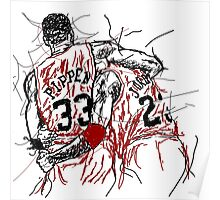 "Scottie Pippen and Michael Jordan ""Flu Game"" Poster"