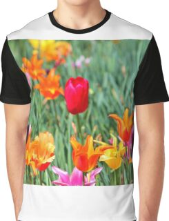 Tulips For Spring Graphic T-Shirt