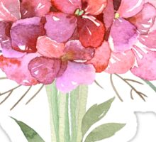 Pink Watercolor Bouquet of Flowers Sticker