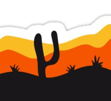 desert evening night sunset sunrise kakten cactus hot hot Sticker