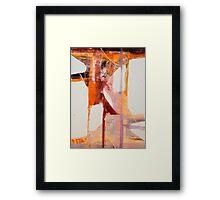 GASH GOLD VERMILLION—HOPKINS Framed Print