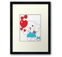 Kiss by Hana Ohana Framed Print