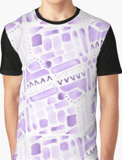 Watercolor Pattern Play in Purple Graphic T-Shirt