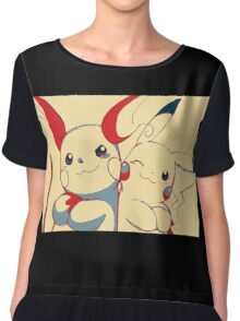 Raichu and Pikachu Chiffon Top