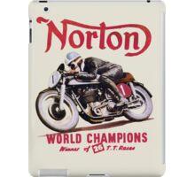 NORTON MOTORCYCLE VINTAGE ART iPad Case/Skin