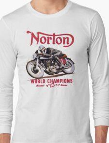 NORTON MOTORCYCLE VINTAGE ART Long Sleeve T-Shirt